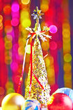 Kerstboom en Kerstmisballen Royalty-vrije Stock Foto