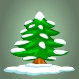 Kerstboom en sneeuw Royalty-vrije Stock Afbeeldingen
