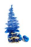 Kerstboom en speelgoed Royalty-vrije Stock Afbeelding