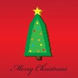 Kerstboom en Vrolijke Kerstmis Royalty-vrije Stock Afbeeldingen