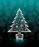 Kerstboom geïsoleerde achtergrond Stock Foto's