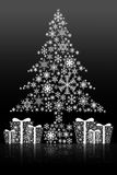 Kerstboom geïsoleerdek achtergrond Stock Foto's