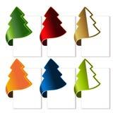 Kerstboom, gebogen band Royalty-vrije Stock Afbeeldingen