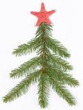 Kerstboom gemaakte †‹â€ ‹van takken Stock Foto's