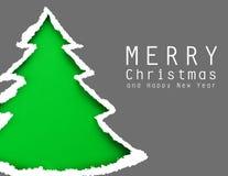Kerstboom (gemakkelijk om de tekst te verwijderen) Royalty-vrije Stock Fotografie