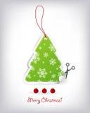 Kerstboom gestalte gegeven uitnodigingen Stock Afbeeldingen