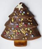 Kerstboom gevormde cake Royalty-vrije Stock Afbeelding