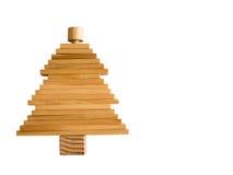Kerstboom houten blok royalty-vrije stock afbeeldingen