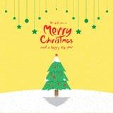 Kerstboom (Kerstkaarten) Stock Foto