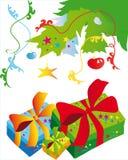 Kerstboom, Kerstmis, nieuw jaar, achtergrond Royalty-vrije Stock Foto