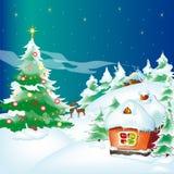 Kerstboom, Kerstmis, nieuw jaar, achtergrond Royalty-vrije Stock Foto's