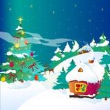 Kerstboom, Kerstmis, nieuw jaar, achtergrond Stock Afbeeldingen