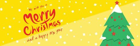 Kerstboom (Kerstmisbanners) Royalty-vrije Stock Fotografie