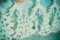 Kerstboom in Kerstmiswoonkamer Royalty-vrije Stock Afbeelding