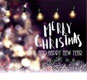 Kerstboom lichte achtergrond Stock Afbeelding