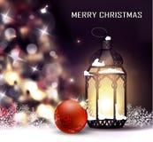 Kerstboom lichte achtergrond Royalty-vrije Stock Afbeeldingen