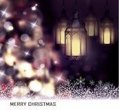 Kerstboom lichte achtergrond Royalty-vrije Stock Afbeelding