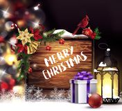 Kerstboom lichte achtergrond Royalty-vrije Stock Fotografie