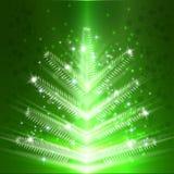 Kerstboom lichte vectorachtergrond Stock Afbeeldingen