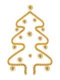 Kerstboom mafe van juwelen Royalty-vrije Stock Afbeelding