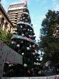 Kerstboom @ Martin Place, Sydney, Australië royalty-vrije stock foto