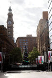 Kerstboom @ Martin Place, Sydney, Australië stock afbeeldingen