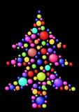 Kerstboom met ballen Stock Afbeeldingen