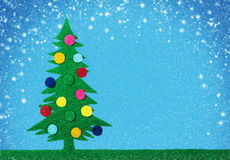 Kerstboom met ballen Stock Afbeelding