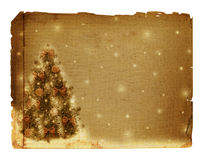 Kerstboom met ballen en bogen Stock Fotografie