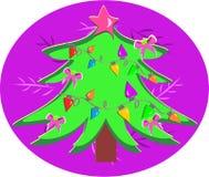 Kerstboom met Bollen stock illustratie