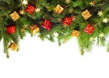 Kerstboom met decor Royalty-vrije Stock Foto's