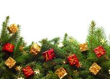 Kerstboom met decor Stock Foto's