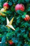 Kerstboom met decoratie Royalty-vrije Stock Fotografie