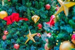Kerstboom met decoratie Royalty-vrije Stock Afbeelding