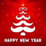 Kerstboom met een snor Royalty-vrije Stock Afbeelding