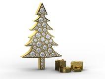 Kerstboom met giftdozen Royalty-vrije Stock Fotografie