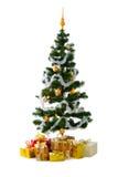 Kerstboom met giften Royalty-vrije Stock Foto's