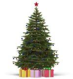 Kerstboom met giften Royalty-vrije Stock Afbeelding