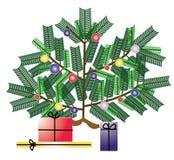 Kerstboom met giften Stock Foto's