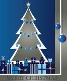 Kerstboom met giften Stock Afbeeldingen