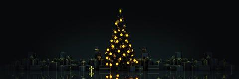 Kerstboom met Giften, Kerstmisconcept 2019 vector illustratie