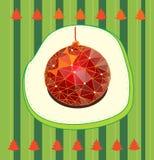Kerstboom met Kerstboom Stock Foto