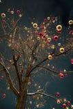 Kerstboom met Kerstmisdecoratie bij Rood Vierkant stock foto's