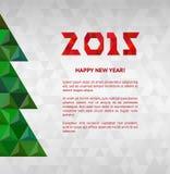Kerstboom met kleurrijke diamant, illustratie stock illustratie