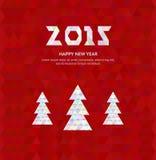 Kerstboom met kleurrijke diamant, vectorillustratie Royalty-vrije Stock Foto's
