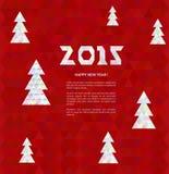 Kerstboom met kleurrijke diamant, vectorillustratie vector illustratie
