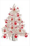 Kerstboom met koekjes en suikergoedriet Stock Foto's