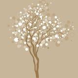 Kerstboom met lichte bellen Stock Foto