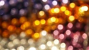 Kerstboom met lichten het gloeien stock video