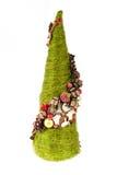Kerstboom met met de hand gemaakte ornamenten Royalty-vrije Stock Afbeeldingen